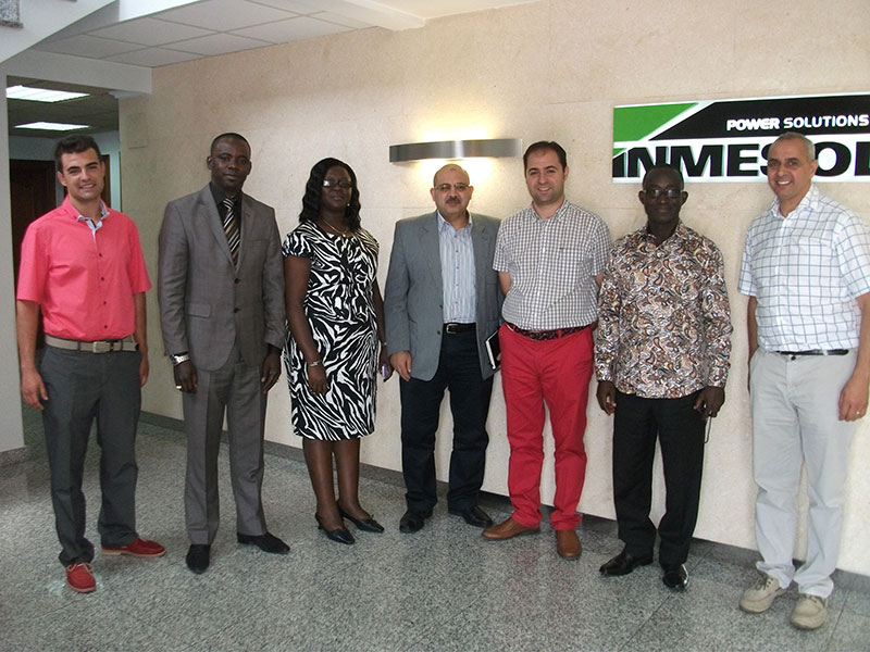 Left to right: Ramón Solano, Inmesol Sales manager; Amador Sarr (Senegal), Ms. Marby (Ghana), Hatem Gohary (Egypt); Jose Luis Solano, Inmesol Production manager; Jonah Marby (Ghana) and Jalil Hazdem (Inmesol Sales Department).