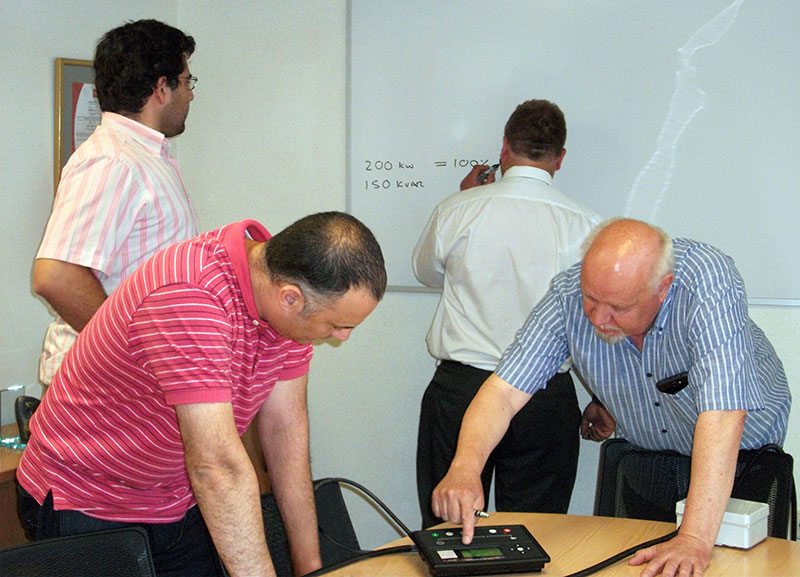 Our team of engineers at the working session with Mark Graham.
