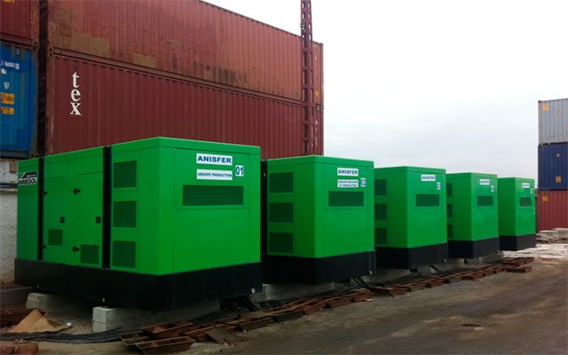 the standby generator sets installed in the logistical platform in Algiers.