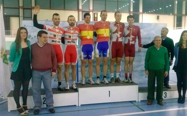 The winners of the Spanish Track Championship 2014. (Image: Murcia Regional Cycling Federation).