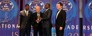 Nuestro distribuidor en Burkina Faso recibe el prestigioso Premio International Star for Leadership in Quality