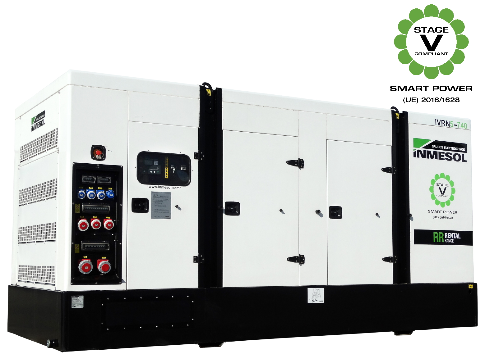 Generator with manual control panel.IVRN5-740 - VOLVO - TWD1683GE-SV - 1.500 R.P.M. | 50 Hz