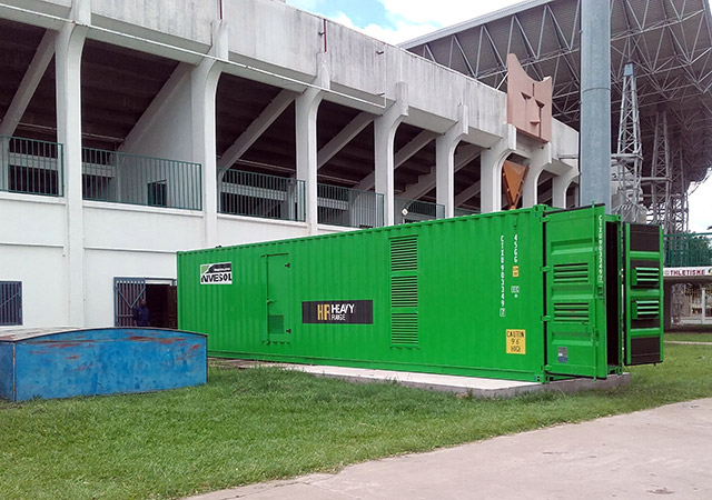 Stand-by Energy by INMESOL at the Alphonse Massemba‐Débat Stadium